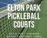 Ribbon Cutting for Pickleball Courts 073119.png