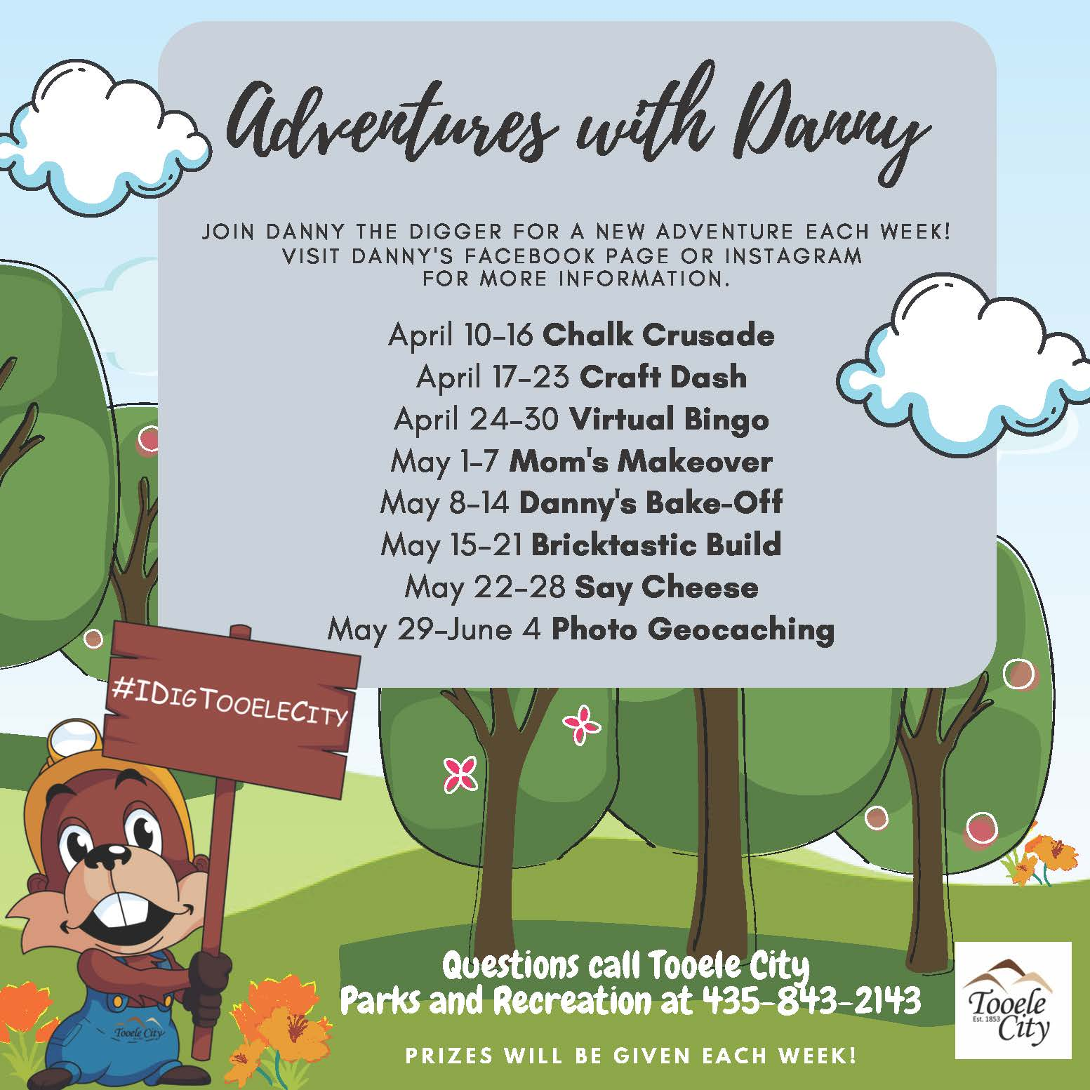 Adventures with Danny:  Danny's Bake-Off @ Join us on Instagram or Facebook