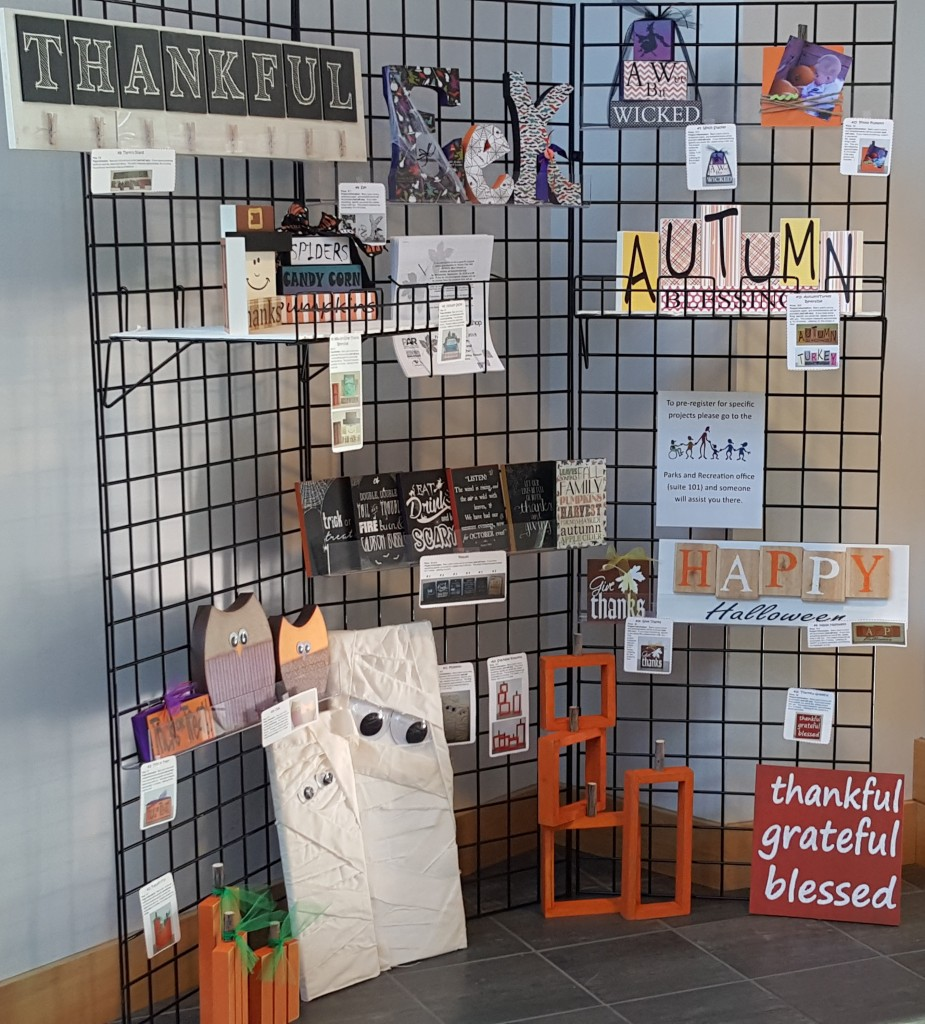 Fall & Halloween Craft Workshop 2015 Projects