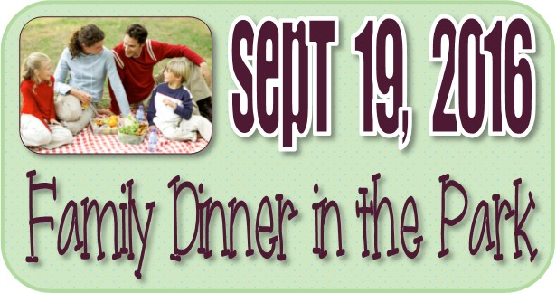 Family Dinner in the Park September 2016