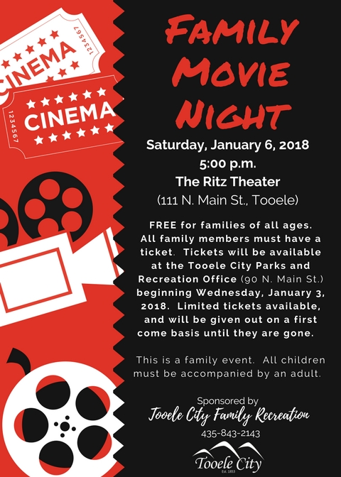 January Family Activity Movie Night 2018