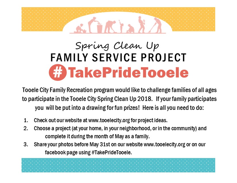 May 2018 Family Spring Clean Up Activity