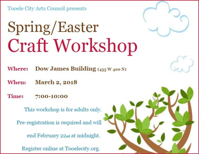 Spring Craft Workshop 2018