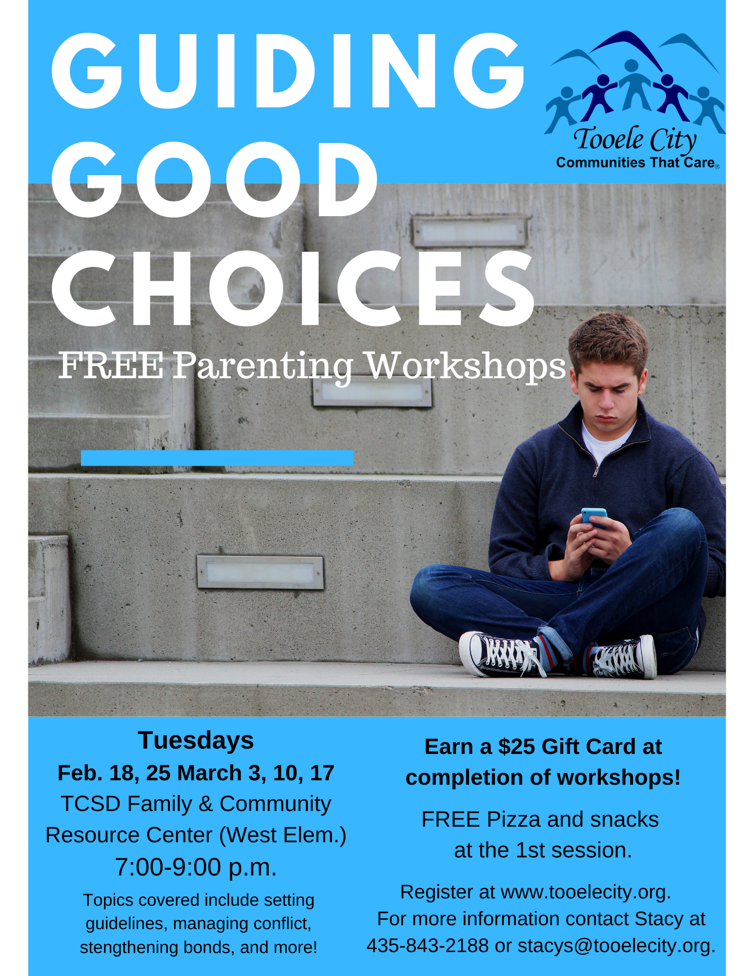 Guiding Good Choices FREE Parenting & Family Workshops (Tuesday Nights) @ TCSD Family & Community Resource Center (West Elementary) | Tooele | Utah | United States
