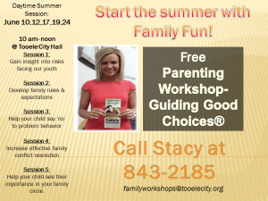 Guiding Good Choices FREE Family Workshop Session 1 @ Tooele City Hall | Tooele | Utah | United States
