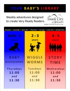 Wiggle Worms (2-3 year olds) @ Tooele City Library | Tooele | Utah | United States