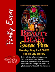 Beauty and the Beast Musical Sneak Peek @ Tooele City Library | Tooele | Utah | United States
