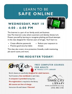 Free Computer Class: Privacy and Safety Online @ Tooele City Library | Tooele | Utah | United States