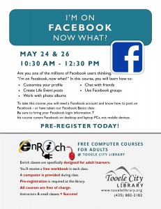 Free Class: I'm on Facebook, Now What? Part 1 @ Tooele City Library | Tooele | Utah | United States