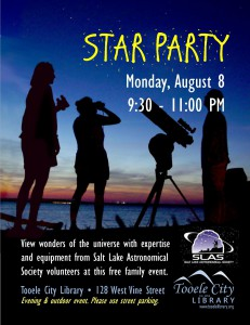 Family Star Party at the City Library @ Tooele City Library | Tooele | Utah | United States