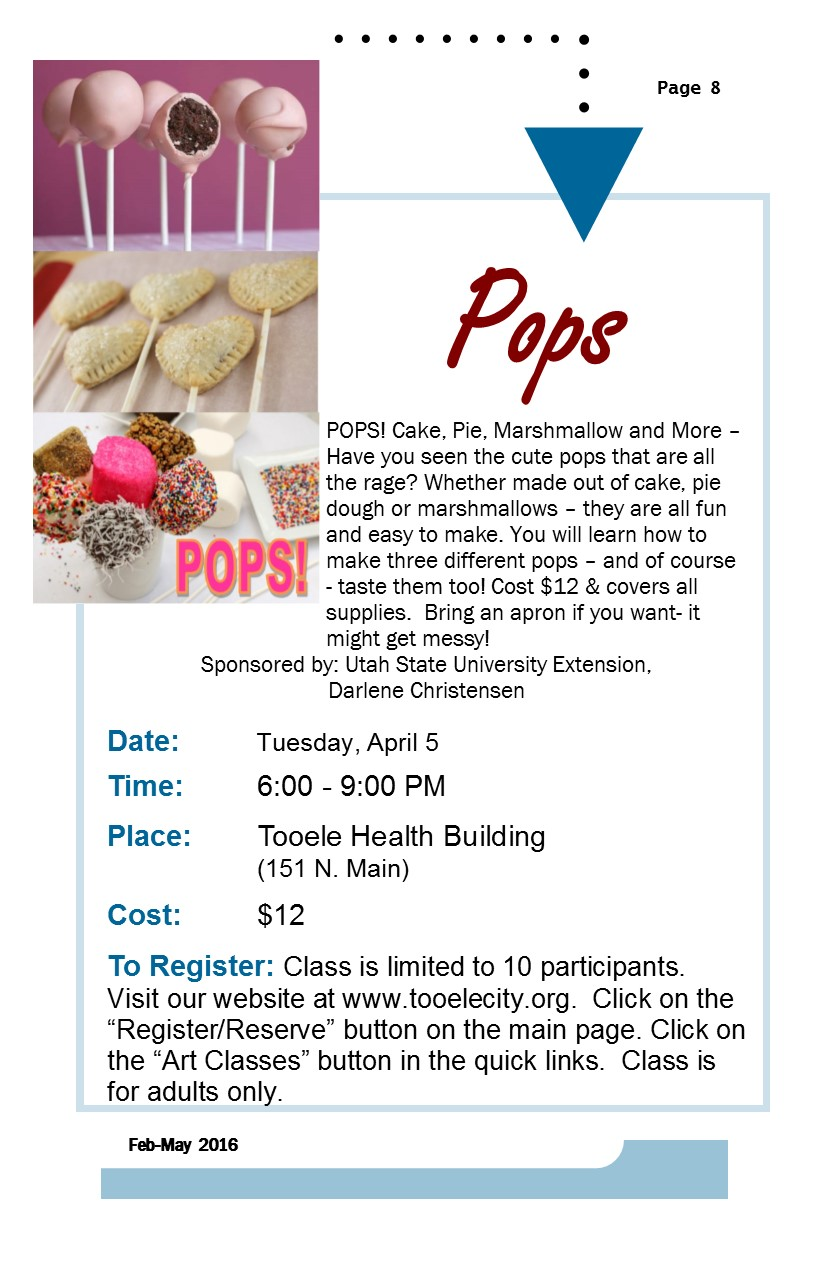 Pops class @ Tooele County Health Department | Tooele | Utah | United States