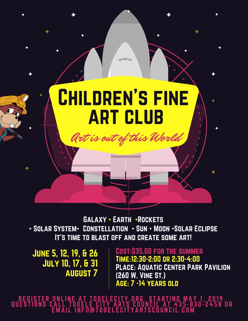 Children's Fine Art Club 2019 Summer Schedule
