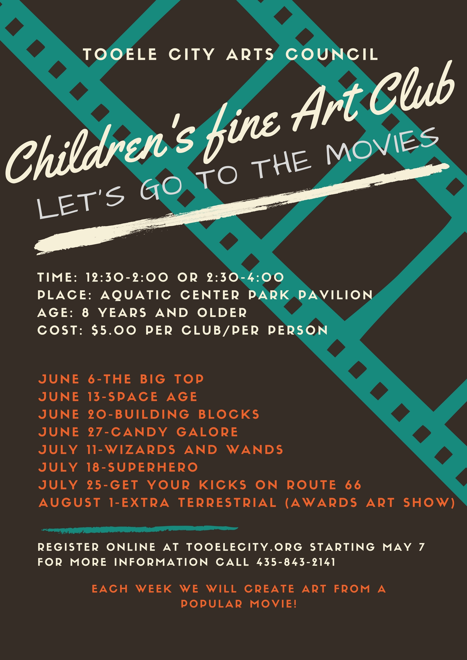 Children's Fine Art Club @ Aquatic Center Park | Tooele | Utah | United States