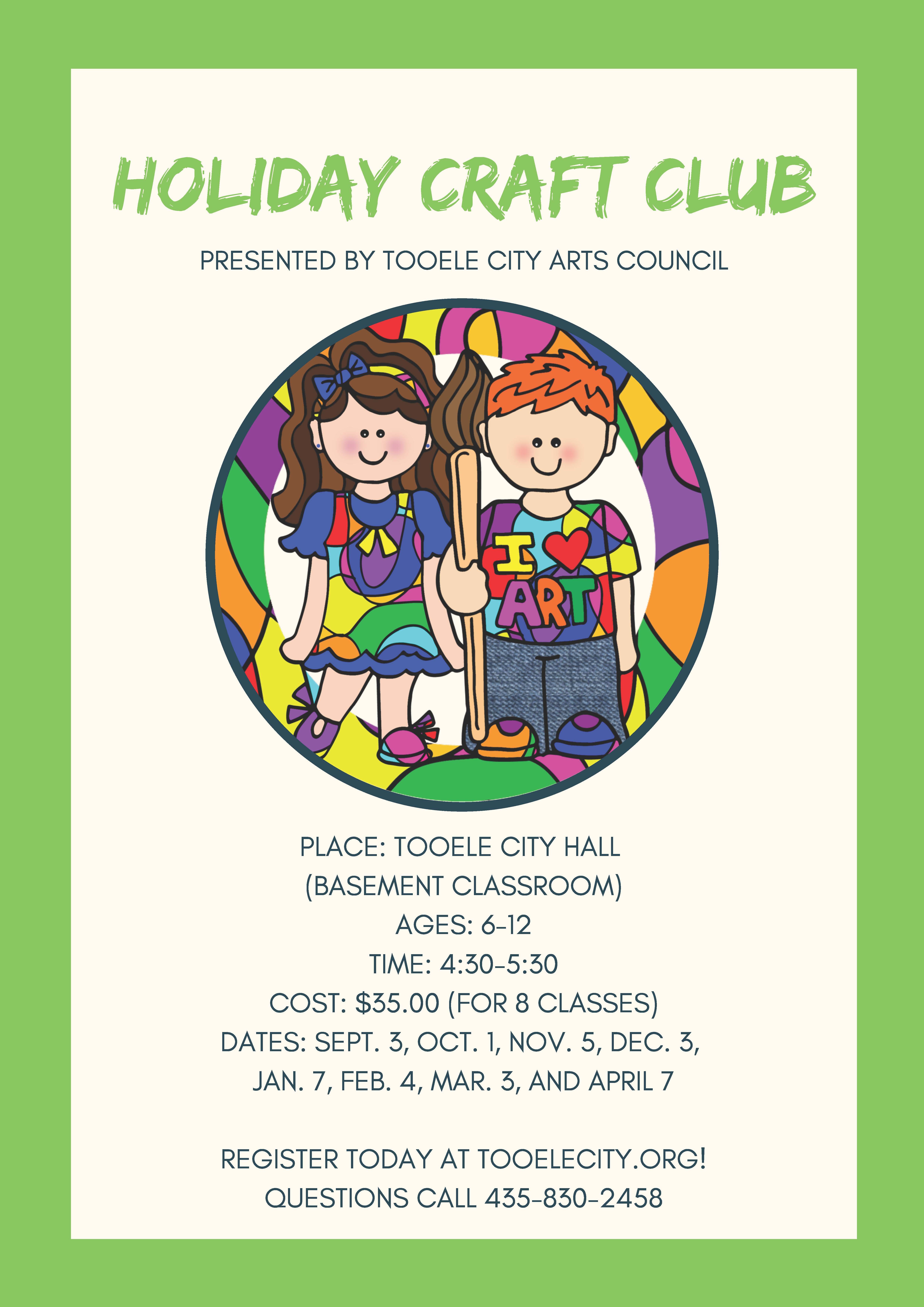 Kids Holiday Craft Club 2019 - 2020 @ Tooele City Hall | Tooele | Utah | United States