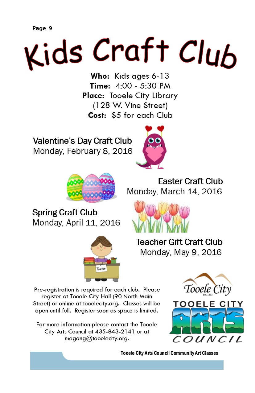 Kids Craft Club:  Easter @ Tooele City Library | Tooele | Utah | United States