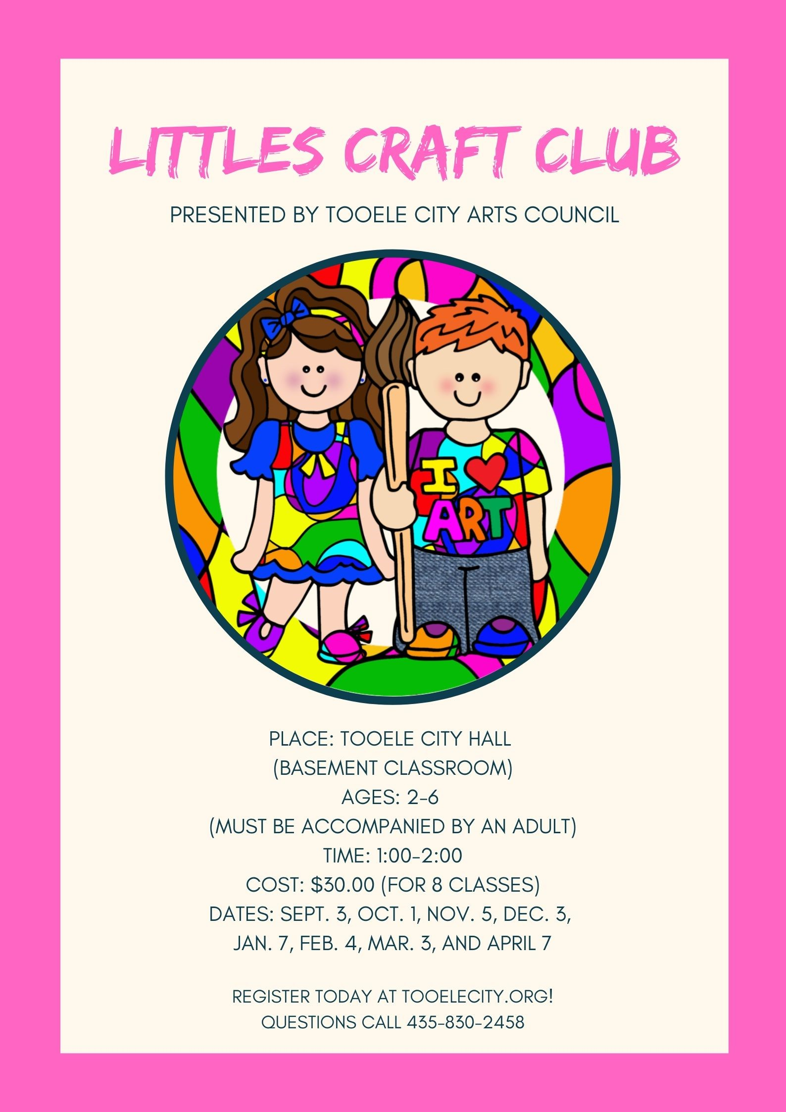 Littles Craft Club 2019 - 2020 @ Tooele City Hall | Tooele | Utah | United States