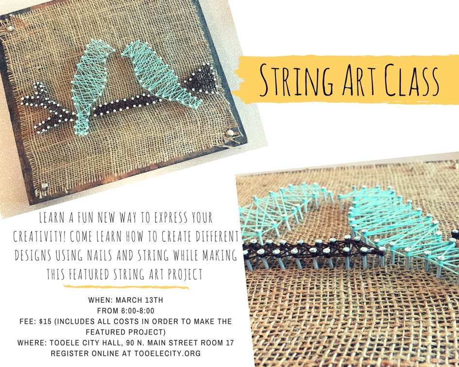 String Art Class Tooele City