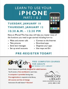 Free Computer Course: iPhone Essentials-Part 1 (Adults) @ Tooele City Library | Tooele | Utah | United States