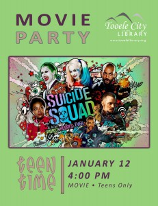 Teen Time: Suicide Squad Movie @ Tooele City Library | Tooele | Utah | United States