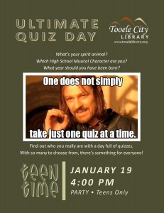 Teen Time: Ultimate Quiz Day @ Tooele City Library | Tooele | Utah | United States