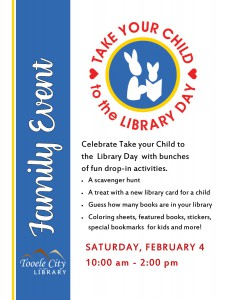 Take your Child to the Library Day @ Tooele City Library   Tooele   Utah   United States