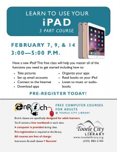 Free Computer Course: iPad Essentials-Part 1 (Adults) @ Tooele City Library   Tooele   Utah   United States