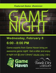 Board Game Madness (Adults 18+) @ Tooele City Library   Tooele   Utah   United States