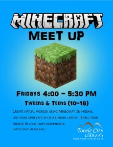 Minecraft Meet Up @ Tooele City Library | Tooele | Utah | United States