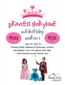 Princess Story Time @ Tooele City Library | Tooele | Utah | United States