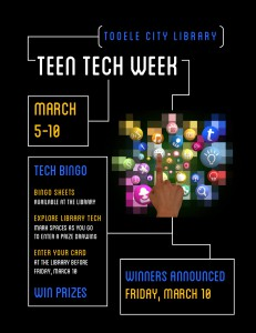Teen Tech Week: Tech Bingo @ Tooele City Library | Tooele | Utah | United States
