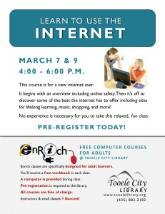 Free Computer Course: Exploring the Internet. Part 1 @ Tooele City Library | Tooele | Utah | United States