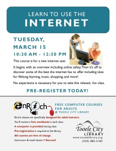 Free Computer Course: Exploring the Internet. Part 2 (Adults) @ Tooele City Library | Tooele | Utah | United States