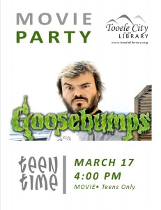 Teen Time: Goosebumps (Movie) @ Tooele City Library | Tooele | Utah | United States