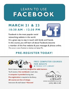 Free Computer Course: Introduction to Facebook. Part 2 @ Tooele City Library | Tooele | Utah | United States