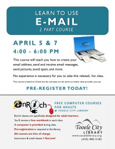 Introduction to Email. Part 1 @ Tooele City Library | Tooele | Utah | United States