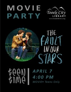Teen Time: Fault in our Stars (Movie) @ Tooele City Library | Tooele | Utah | United States