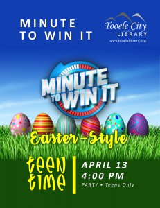 Teen Time: Minute to Win It @ Tooele City Library | Tooele | Utah | United States