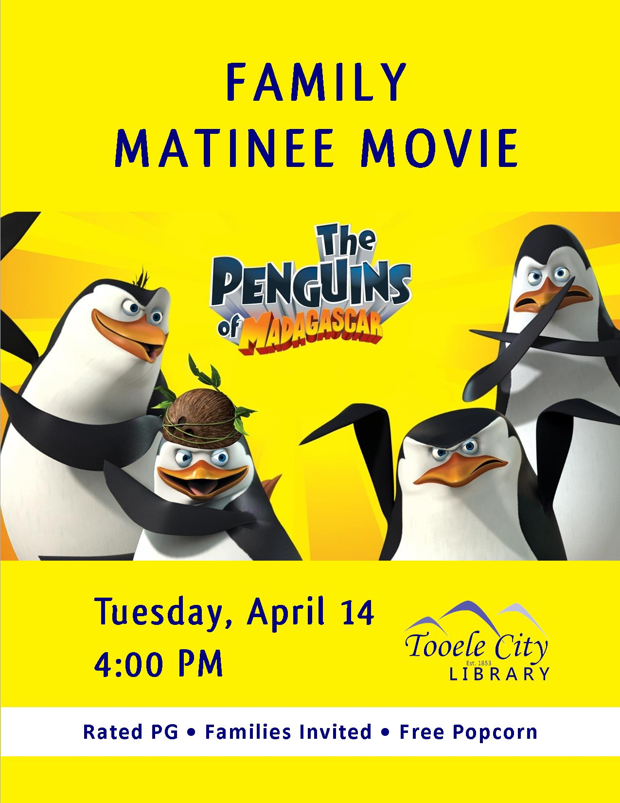 04 14 Movie Penguins Madagascar | Tooele City