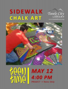 Teen Time Project: Sidewalk Chalk Art @ Tooele City Library | Tooele | Utah | United States