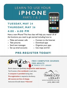 Free Computer Course: iPhone Essentials-Part 2 (Adults) @ Tooele City Library | Tooele | Utah | United States