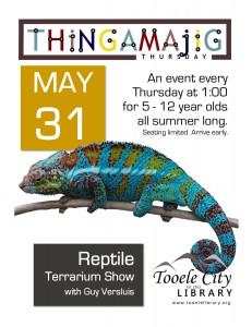 Thing-A-Ma-Jig Thursday: Reptile Terrarium Show @ Tooele City Library | Tooele | Utah | United States