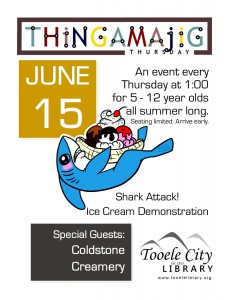 Thing-A-Ma-Jig Thursday: Shark Attack @ Tooele City Library | Tooele | Utah | United States