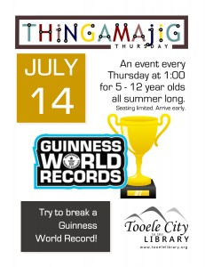 Thing-A-Ma-Jig Thursday: Guinness World Records @ Tooele City Library | Tooele | Utah | United States