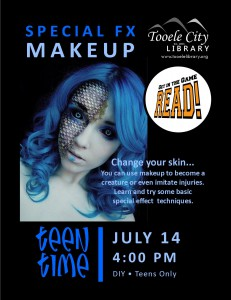 Teen Time: Special Fx Makeup @ Tooele City Library | Tooele | Utah | United States