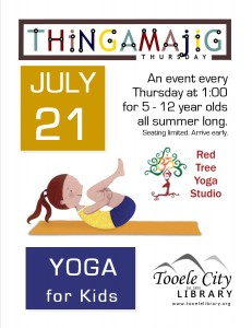 Thing-A-Ma-Jig Thursday: Yoga for Kids @ Tooele City Library | Tooele | Utah | United States