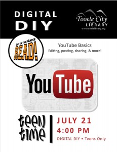 Teen Time: Digital DIY with YouTube @ Tooele City Library | Tooele | Utah | United States