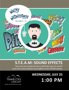Wacky Wednesday: Sound Effect Science @ Tooele City Library | Tooele | Utah | United States