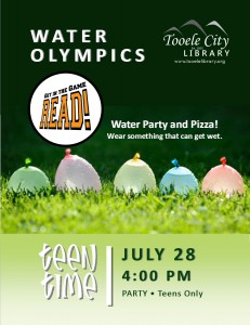 Teen Time: Water Olympics @ Tooele City Library | Tooele | Utah | United States