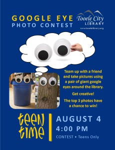 Teen Time: Google Eye Photo Contest @ Tooele City Library | Tooele | Utah | United States