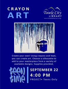 Teen Time: Crayon Art @ Tooele City Library | Tooele | Utah | United States